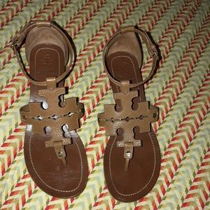 Tory Burch Wedge Sandals size 8 1/2